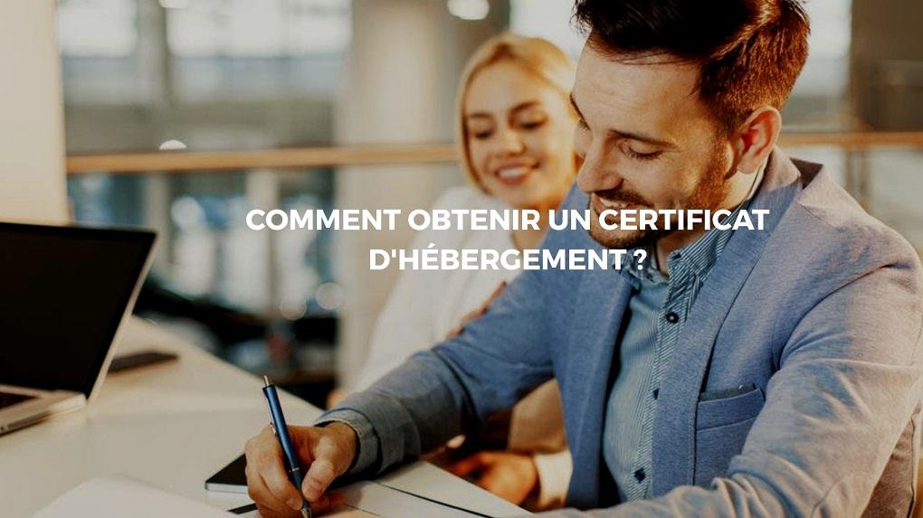 certificat hébergement