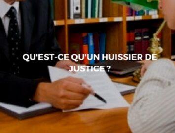 Le rôle d'un huissier de justice
